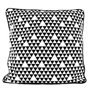 Housse de coussin 50x50cm / Petits triangles noirs