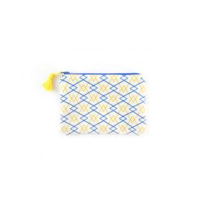 Petite pochette Losanges - Bleu & Jaune
