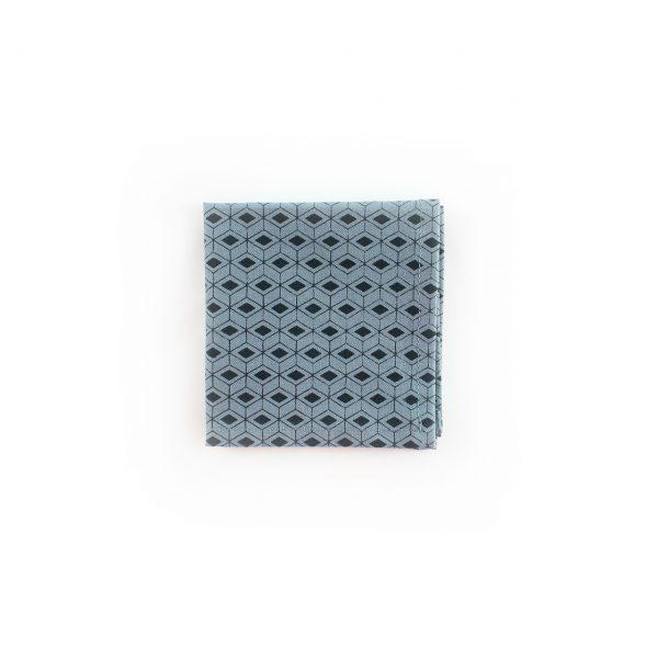 Carré de poche - Bleu / Gris anthracite