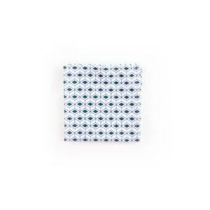 Carré de poche - Blanc / Bleu Pétrole