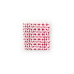 Carré de poche - Blanc / Rouge