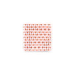 Carré de poche - Blanc / Corail