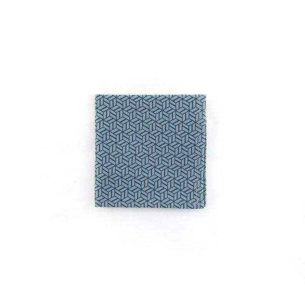 Carré de poche - Cubes Bleus