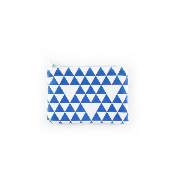 Petite pochette - Triangles bleu